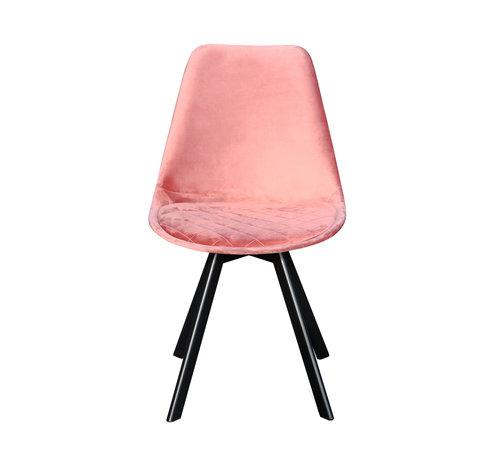 Kick Kuipstoel Velvet Diamant Patroon - Roze