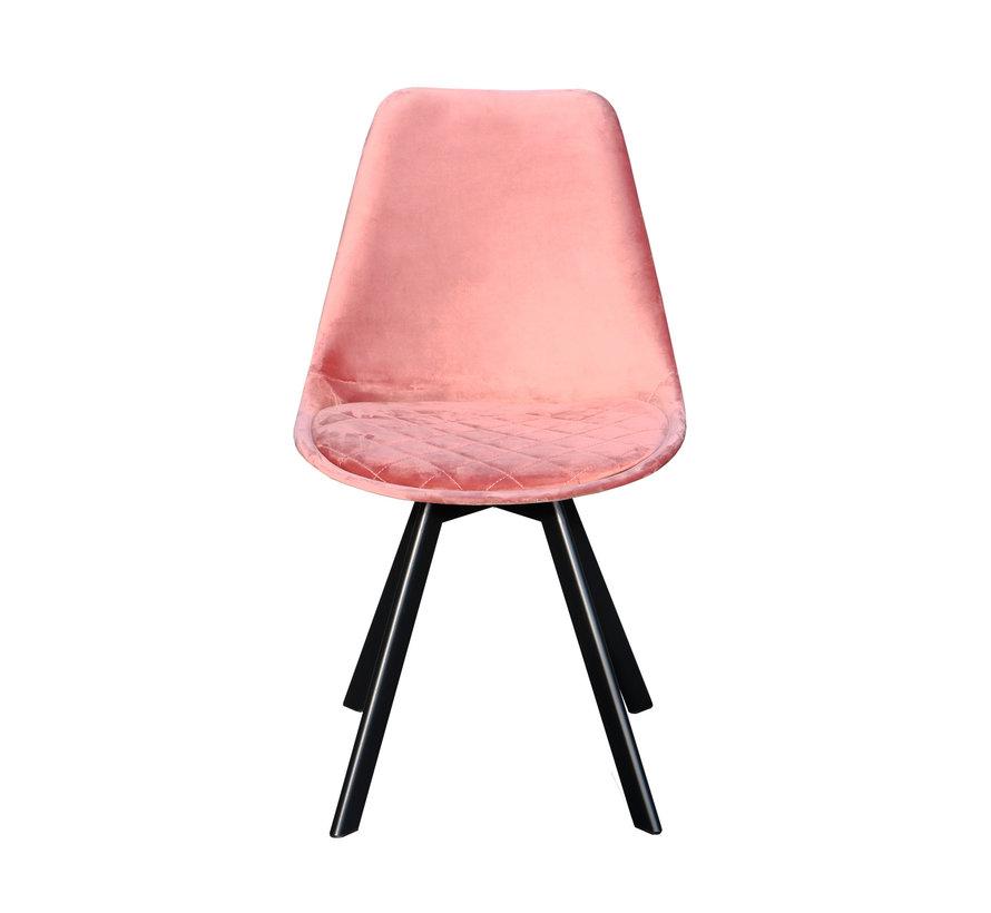 Kuipstoel Velvet Diamant Patroon - Roze
