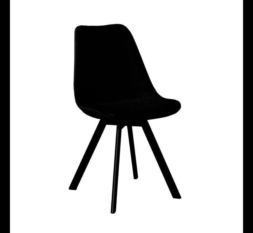 Bucket seat Velvet Diamond Pattern - Black