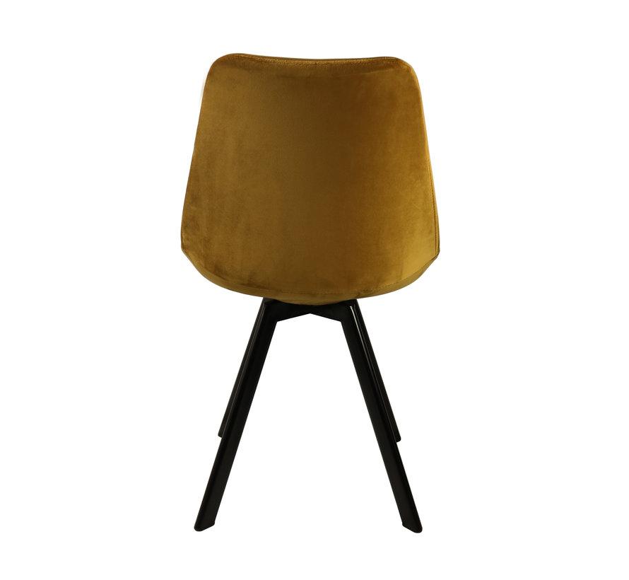 Bucket seat Velvet Diamond Pattern - Gold