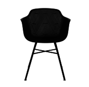 Kick Garden chair Black Coated Metal Black Frame