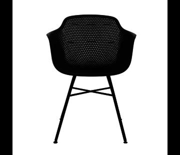 Kick Garden chair Black Coated Metal Black Frame
