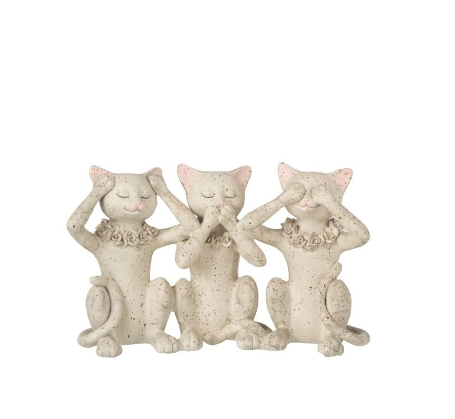 Decoration Figure Cats Hear See and Speak - Gray