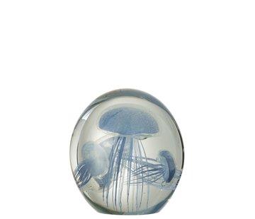 J -Line Paper Weight Three Jellyfish Spots - Light Blue