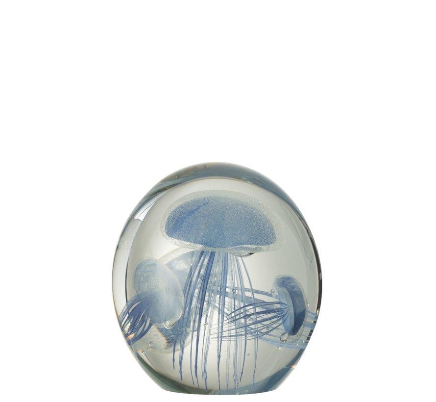 Paper Weight Three Jellyfish Spots - Light Blue