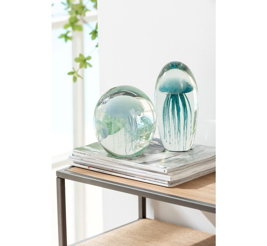 Paper Weight Jellyfish Spots Turquoise - Large