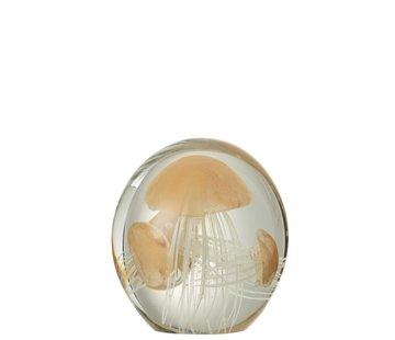 J -Line Paper Weight Three Jellyfish Spots - Light Orange