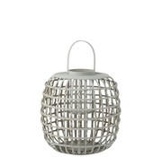 J -Line Candle Lantern With Handle Bamboo Gray - Large