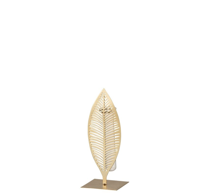 Tube Vase Feather Forging Glass Gold - Small