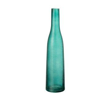 J -Line Bottles Vase Transparent Blue Glass - Large