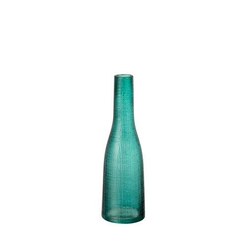 J -Line Bottles Vase Transparent Blue Glass - Small