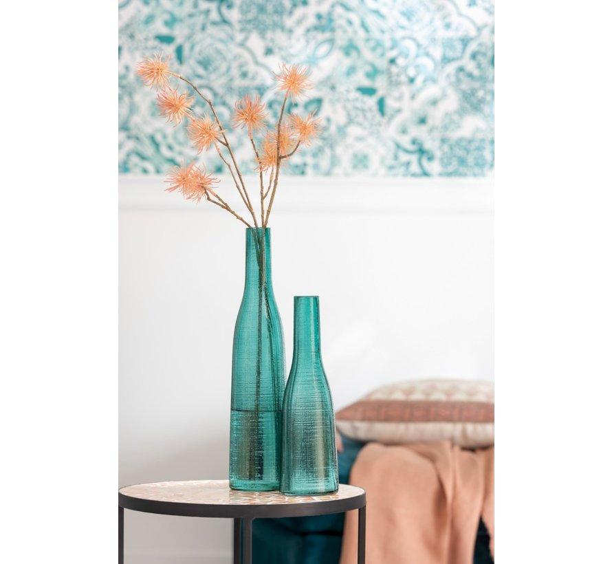 Bottles Vase Transparent Blue Glass - Small