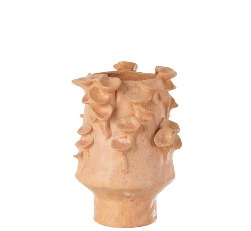 J -Line Ceramic vase eddies Pink Orange - Large