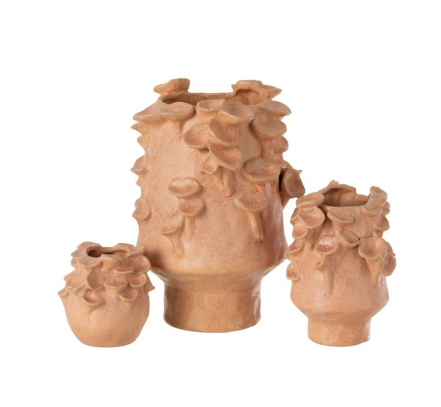 Ceramic vase eddies Pink Orange - Large