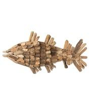 J -Line Wall decoration Fish Driftwood Natural - Large