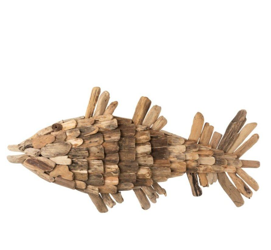 Wall decoration Fish Driftwood Natural - Large