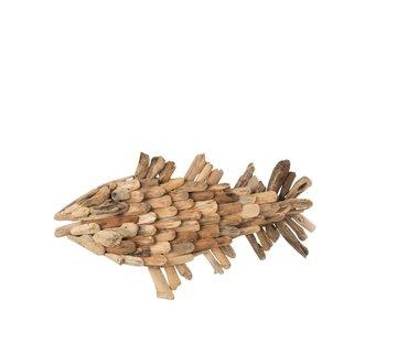 J -Line Wall decoration Fish Driftwood Natural - Medium