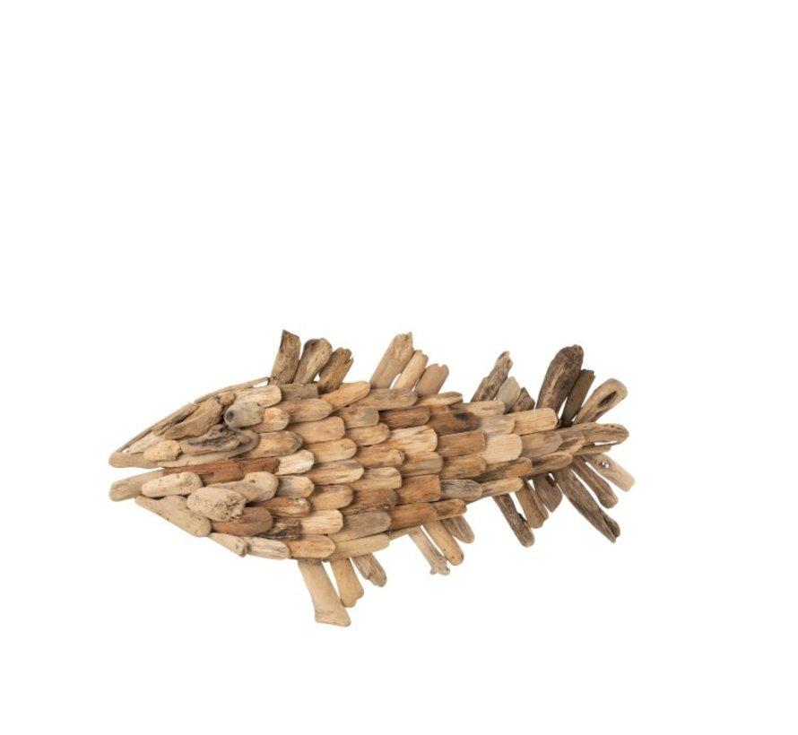 Wall decoration Fish Driftwood Natural - Medium