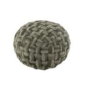 J -Line Pouf Round Crocheted Viscose - Green