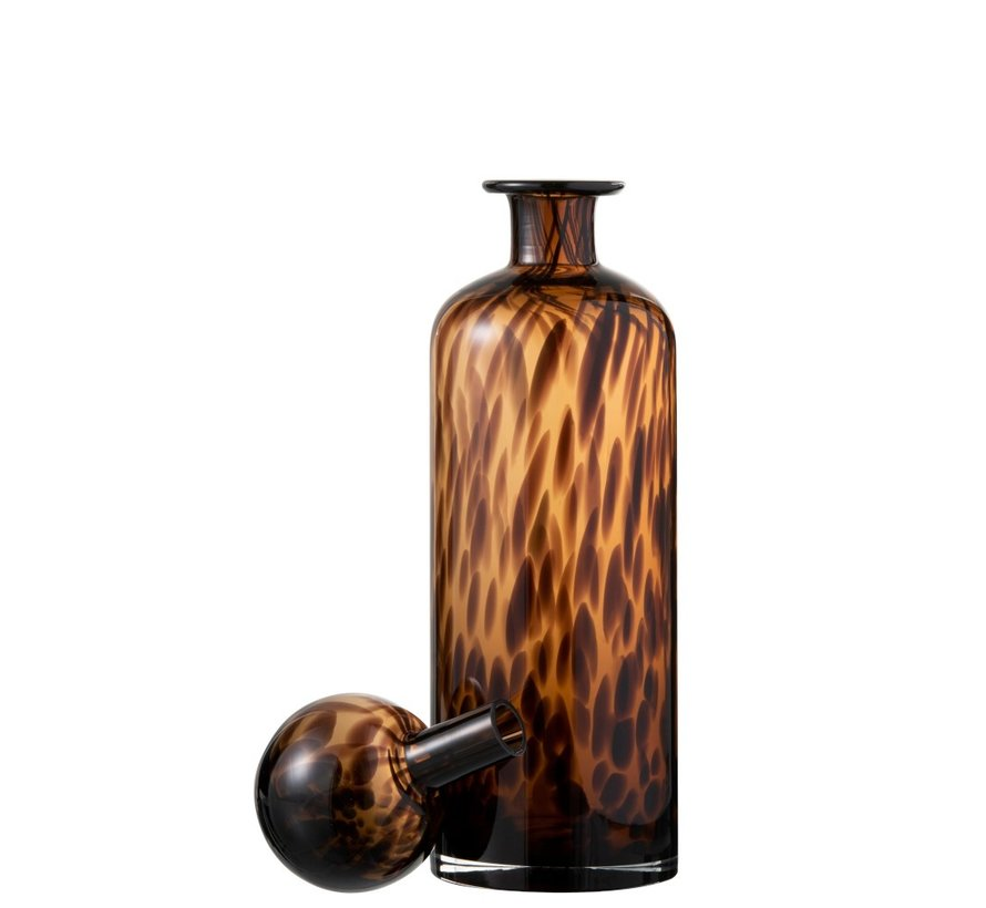 Decoratie Karaf Vlammen Glas Bruin Zwart - Large