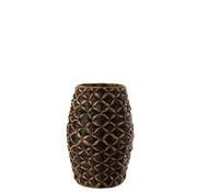 J -Line Basket Long Water Hyacinth Black Brown - Extra Large