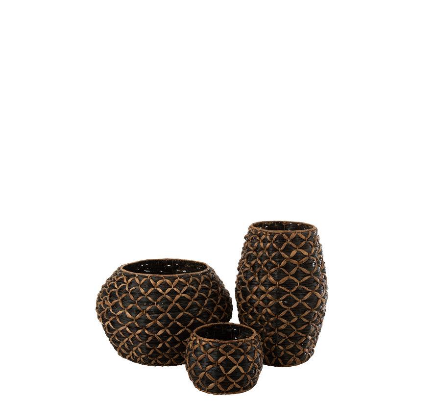 Basket Long Black Brown Extra Large