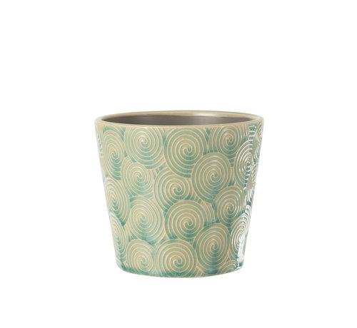 J -Line Flowerpot Ceramic Turquoise Large