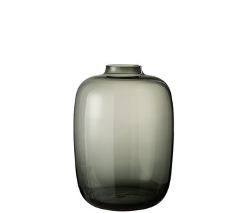 J -Line Bottle Vase Glass Transparent Gray - Large