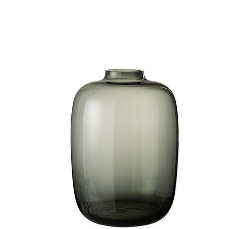 J-Line Flessen Vaas Glas Grijs Large