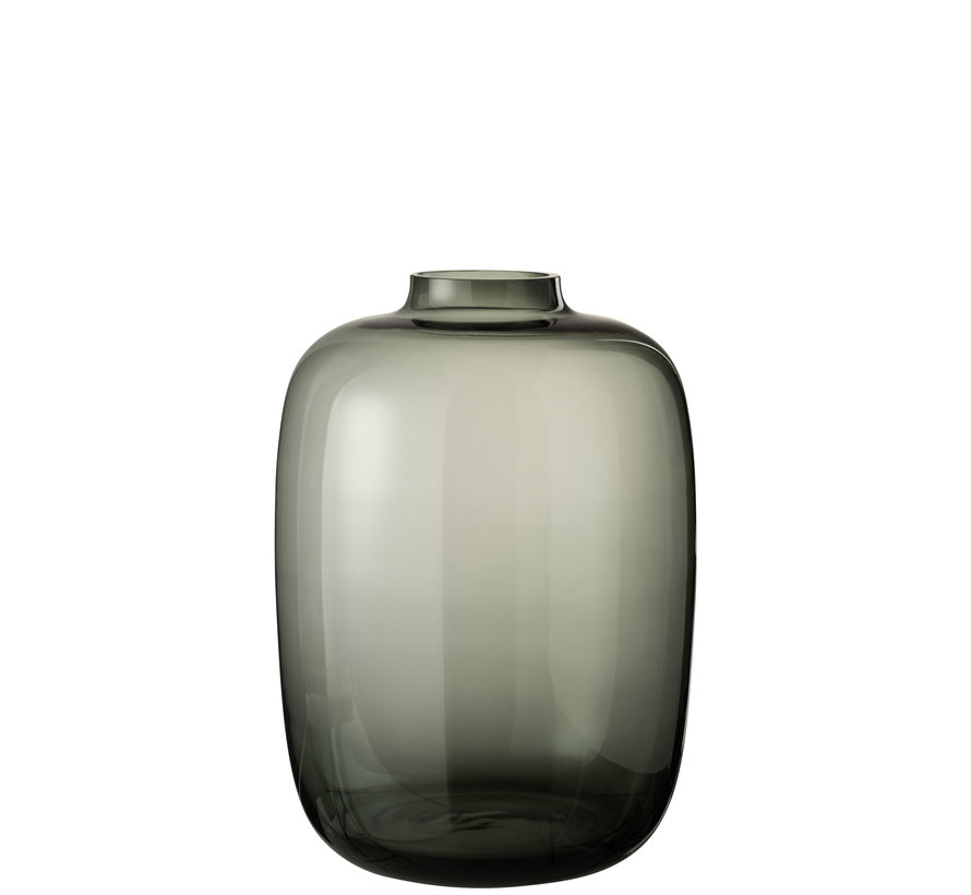 Bottle Vase Glass Gray Large