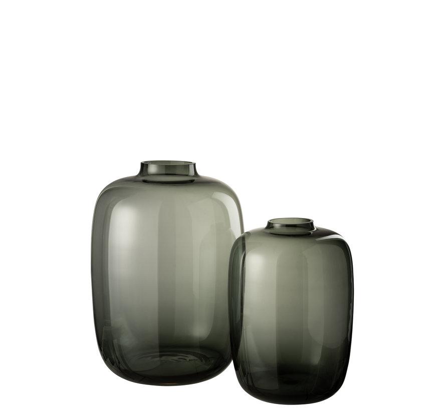 Flessen Vaas Glas Transparant Grijs - Large