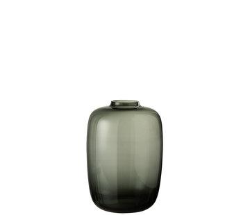 J-Line Flessen Vaas Glas Grijs Small