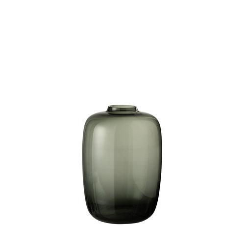 J -Line Bottles Vase Glass Gray Small