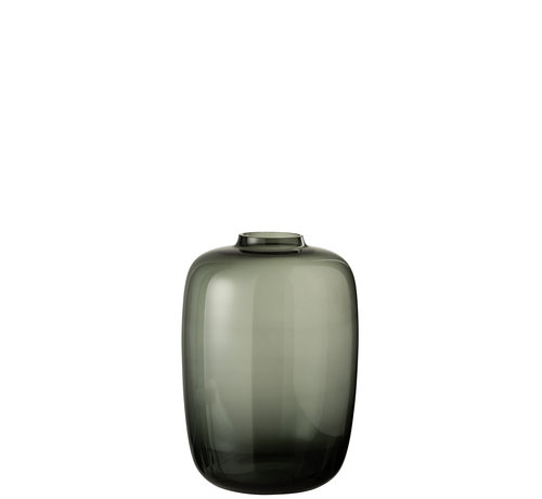J -Line Bottles Vase Glass Transparent Gray - Small