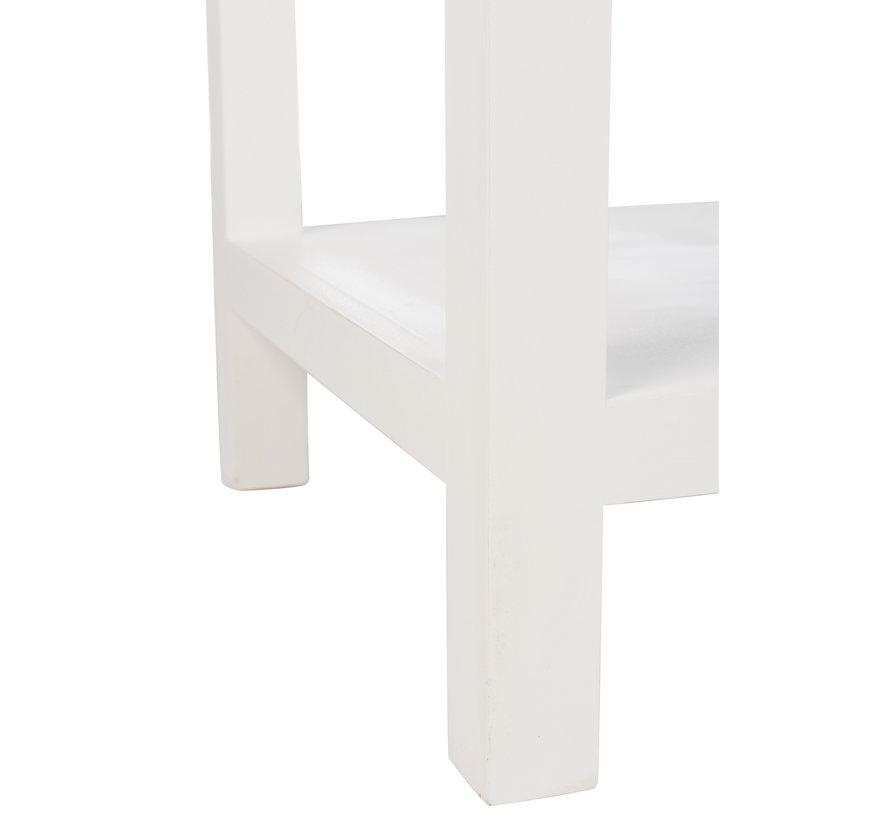 Consoletafel Rechthoek Manden Hout - Wit