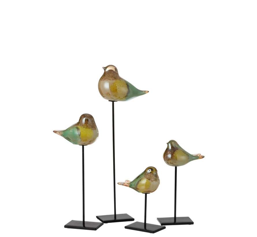 Bird Glass Mix Colors Small