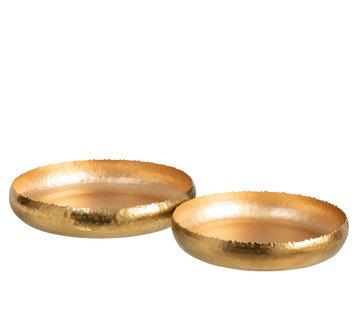 J -Line Decorative Bowls Round Ironwork - Gold