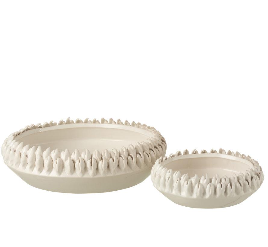 Decorative Bowl Round Ceramic White - Large