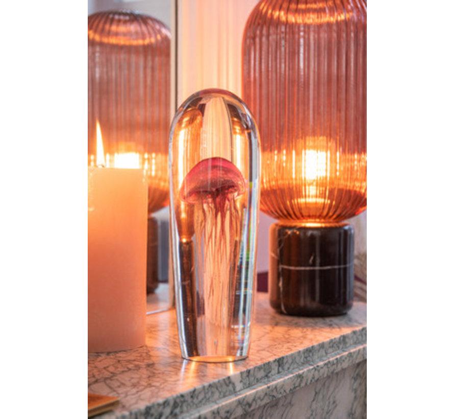 Papiergewicht Kwal Glas Goud Bordeaux - Large