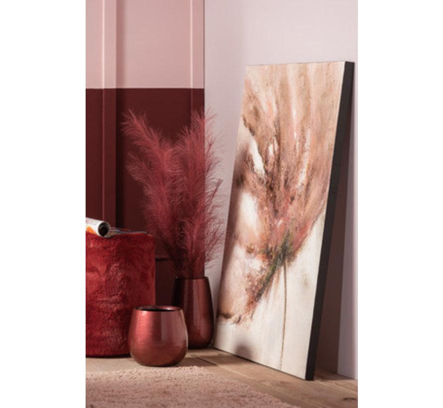 Wanddecoratie Canvas Schilderij Vervaagde Bloem Mix - Rood