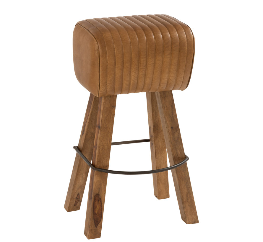 Gym Stool Rectangle Leather