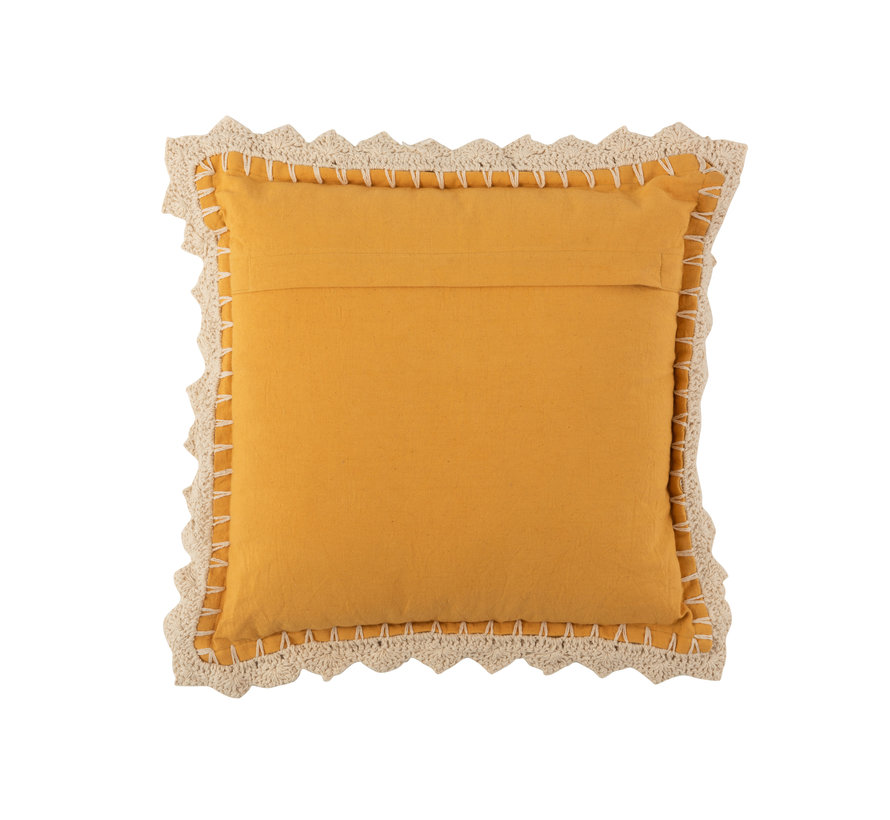 Cushion Square Shiny Ocher Beige