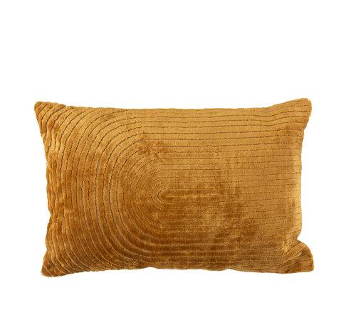 J-Line Cushion Rectangle Turning Patterns Ocher