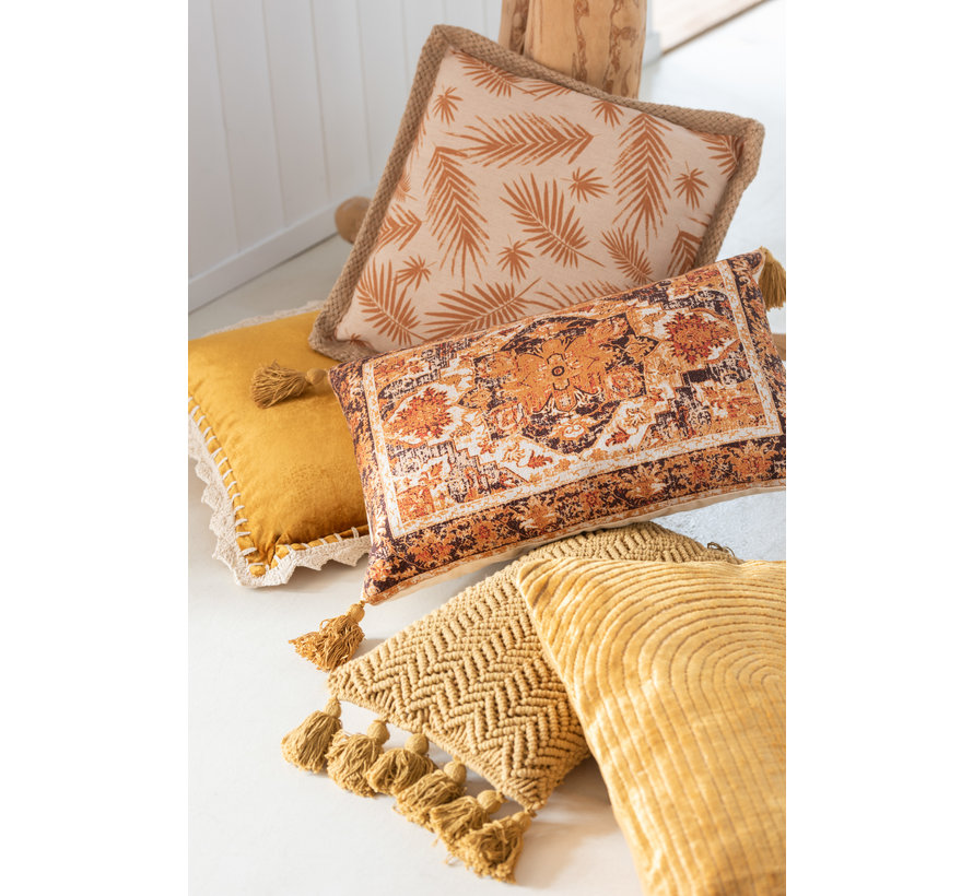 Cushion Rectangle Turning Patterns Ocher