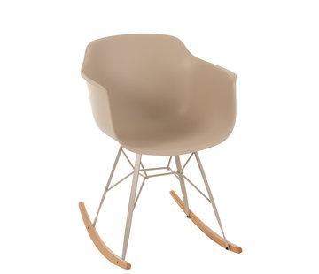 J -Line Rocking chair Pastel Beige