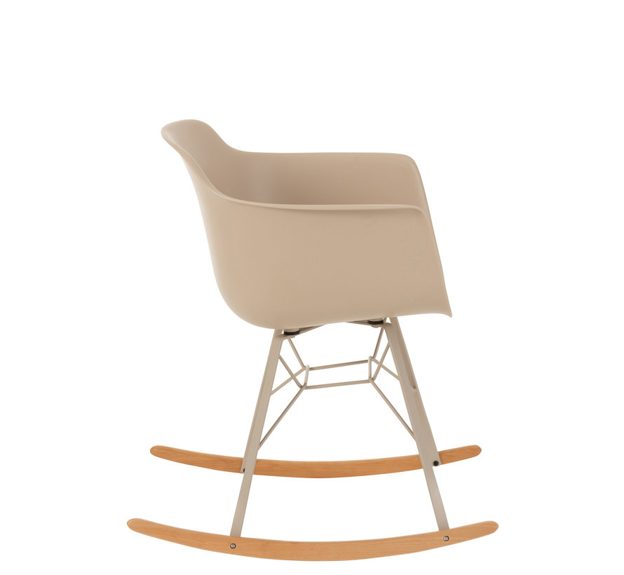 Rocking chair Pastel Metal Plastic - Beige