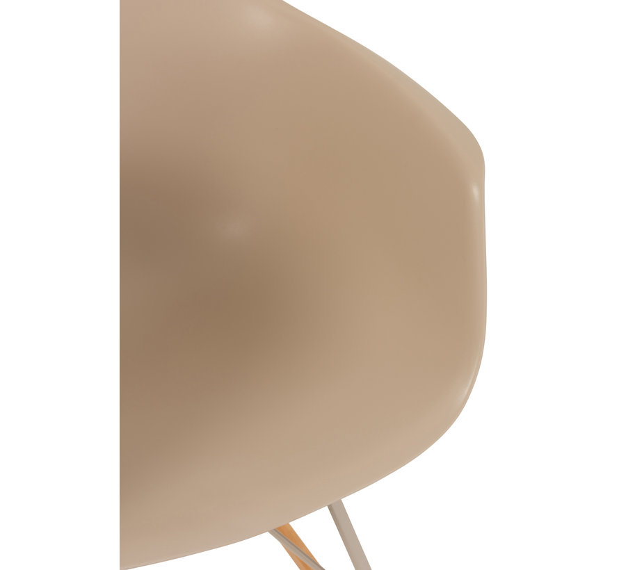 Schommelstoel Pastel Beige