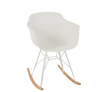 J-Line Rocking chair Pastel White