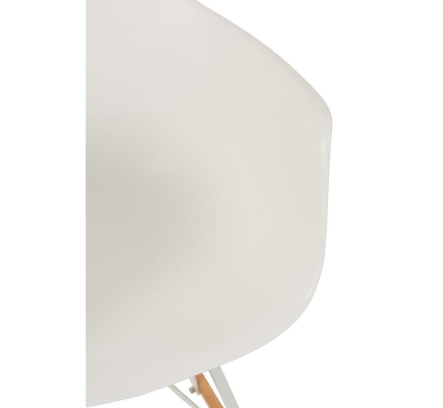 Rocking chair Pastel White