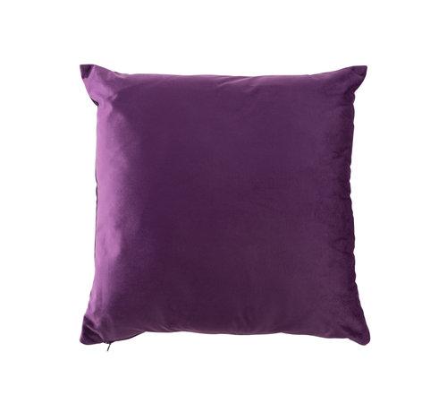 J-Line Cushion Square Velvet Purple